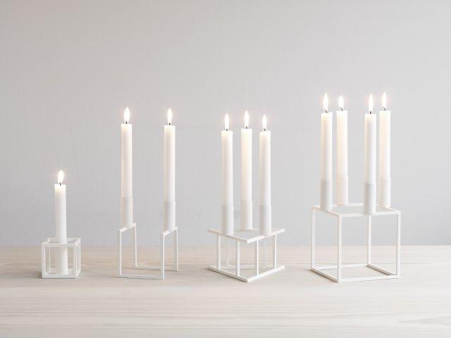 by lassen kubus 4 kerzenleuchter f r 4 kerzen wei ebay. Black Bedroom Furniture Sets. Home Design Ideas